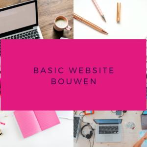 basic website bouwen