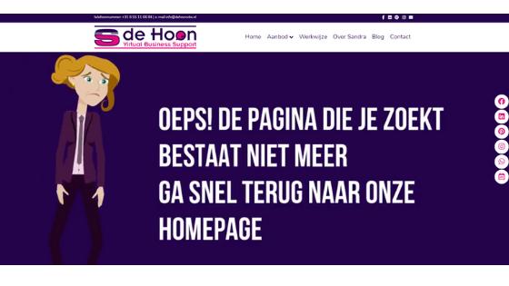 Heb jij een 404 pagina?